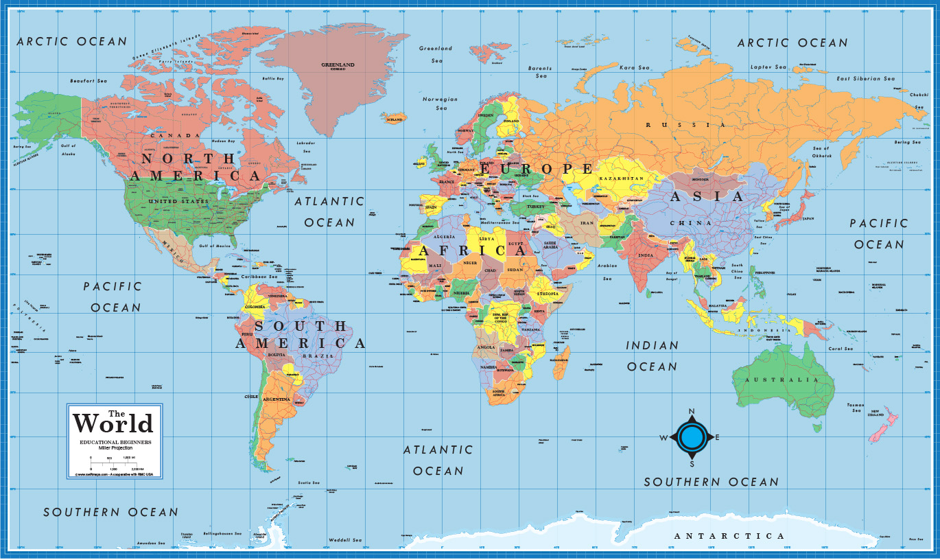 World USA Educational Beginners Level K 4 desktop map