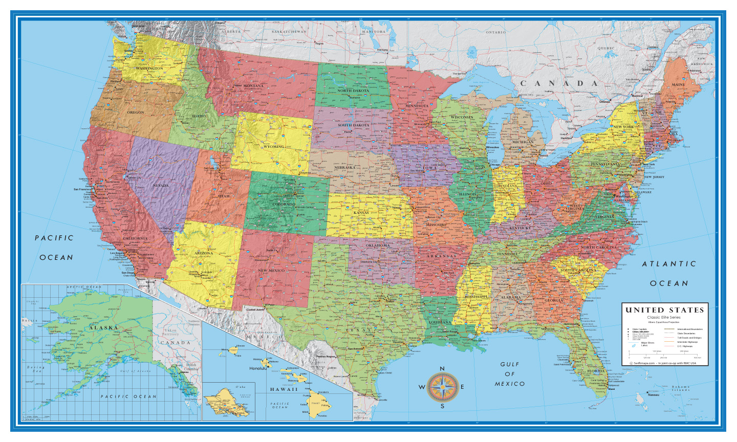 USA Wall Maps Archives - SWIFTMAPS.com