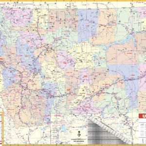 Montana State Wall Map Executive Commercial Edition - Montana state map