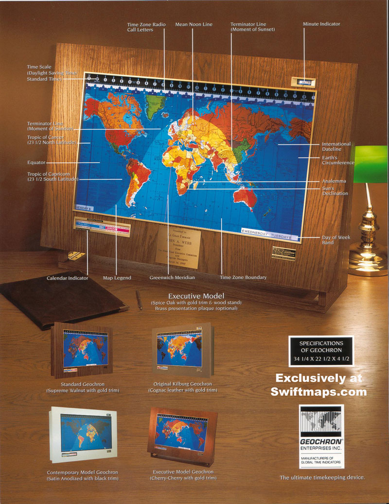 Geochron original kilburg world time clock day night led map publicscrutiny Gallery