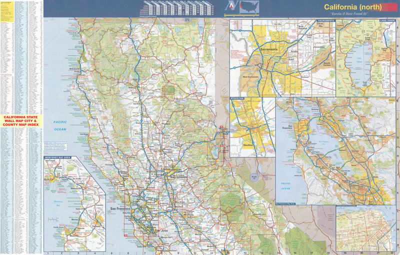 California Northern Wall Map Executive Commercial Edition