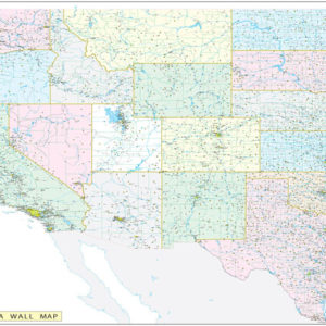Western United States Executive City County Wall Map.jpg