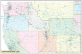 Northwestern United States Executive City County Wall Map.jpg