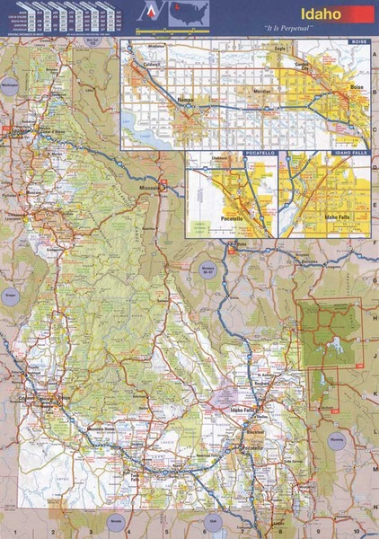 Idaho State Wall Map Executive Commercial Edition