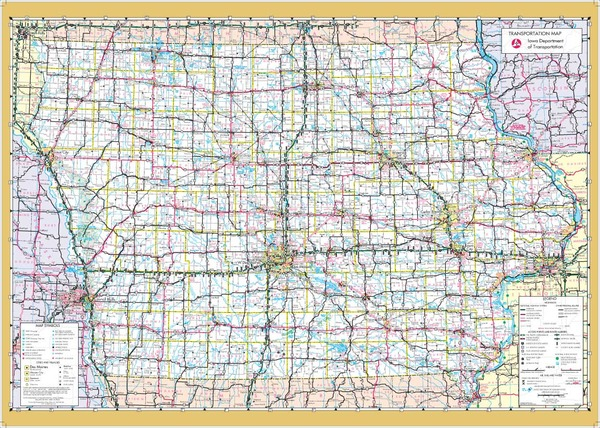 Iowa Wall Map Executive Commercial Edition