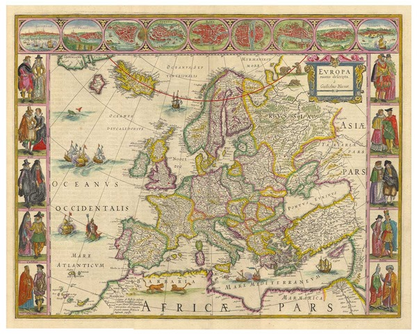 p-6153-1670-Bleau-Europe Map Reproductions on