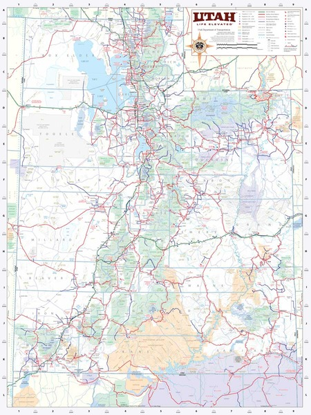 Ut State Map.Utah Wall Map Executive Commercial Edition Swiftmaps Com