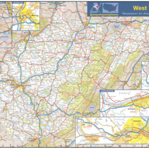 West Virginia Wall Map Executive Commercial Edition