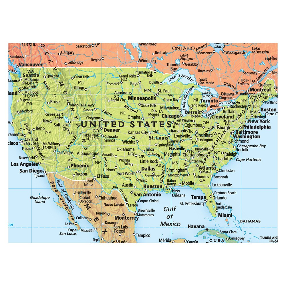 Rand McNally Deluxe Signature World Map Wall Poster – Map of the World in Detail
