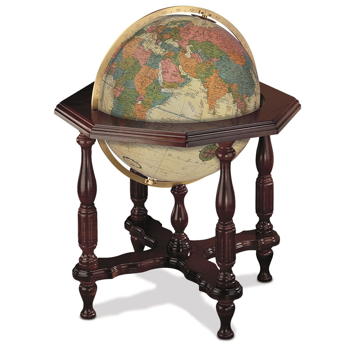 20 Statesman Illuminated Floor Globe By Replogle