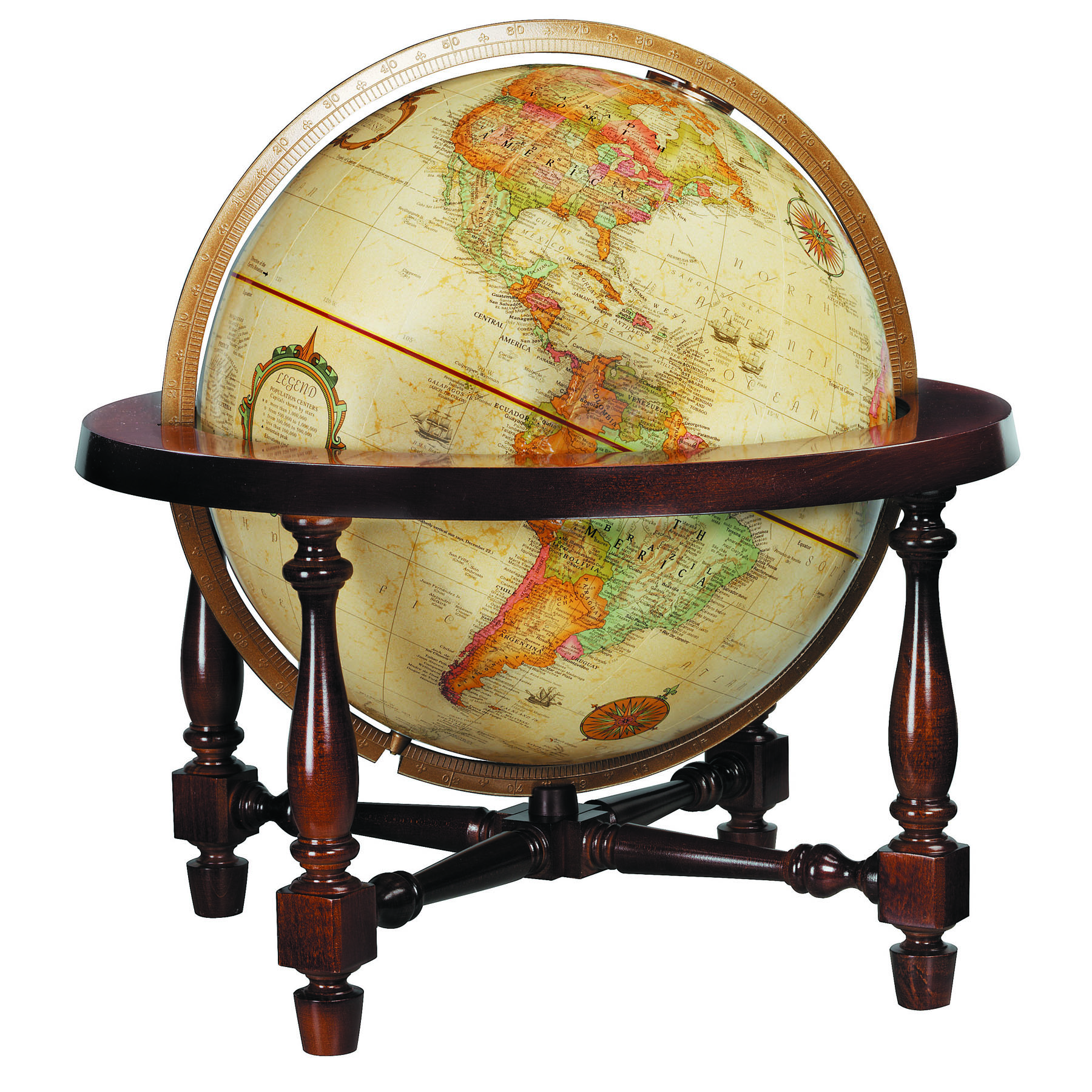 Colonial 12 World Globe By Replogle