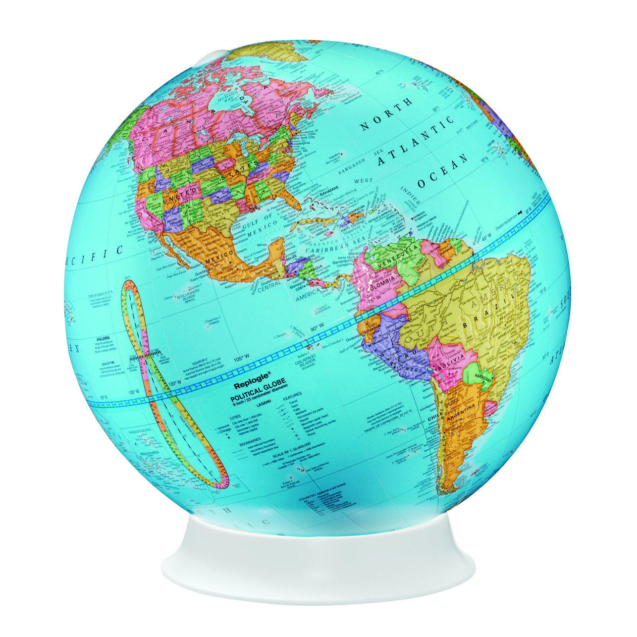 Apollo 9 world globe by replogle swiftmaps apollo 9 world globe by replogle gumiabroncs Images