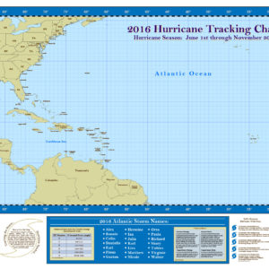 2016 Hurricane Tracking Chart 24X36