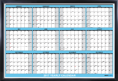 Yearly Wall Calendar  Month Horizontal Planning AtAGlance