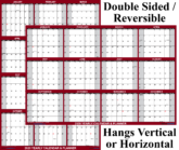 SwiftGlimpse 2020 Wall Calendar Dry Erase Reversible Planner Maroon