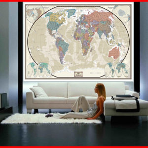 76x120 World Executive Wall Mural on wall