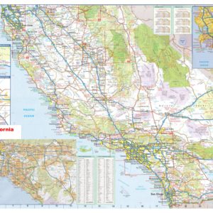California Southern Wall Map Executive Commercial Edition