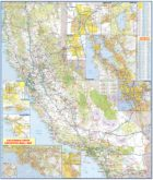 California Wall Map Executive Commercial Edition