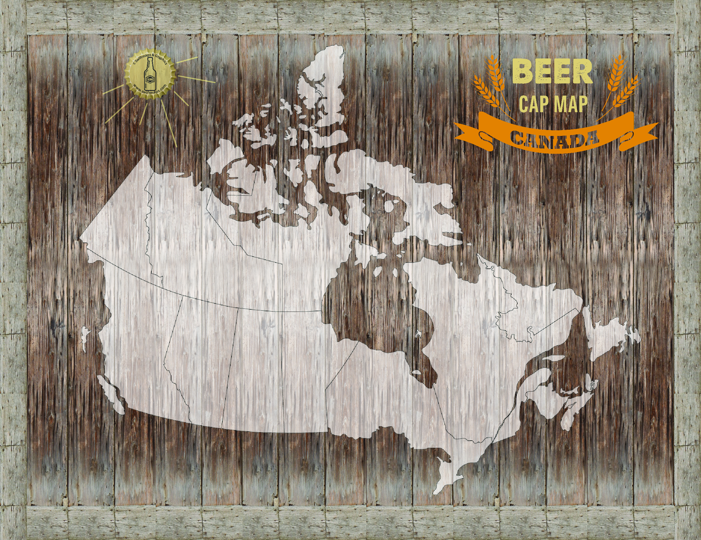 Magnetic canada beer cap map swiftmaps canada beer cap map gumiabroncs Image collections