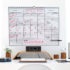 SwiftGlimpse Undated Reusable 12 Month Wall & Desk Calendar, Wirebound, Laminated