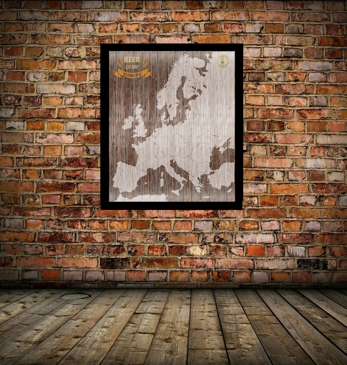 Europe-Beer-Cap-on-Brick-Wall-Background Magnetic World Map For Wall on magnetic travel map with pins, magnetic pins for maps, magnetic puzzle map of usa, world maps for your wall, magnetic wall board, framed world wall, magnetic travel map state, magnetic map of the world, magnetic and the world,