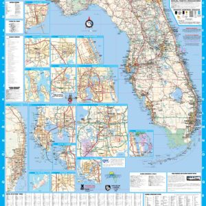 Florida Wall Map Executive Commercial Edition