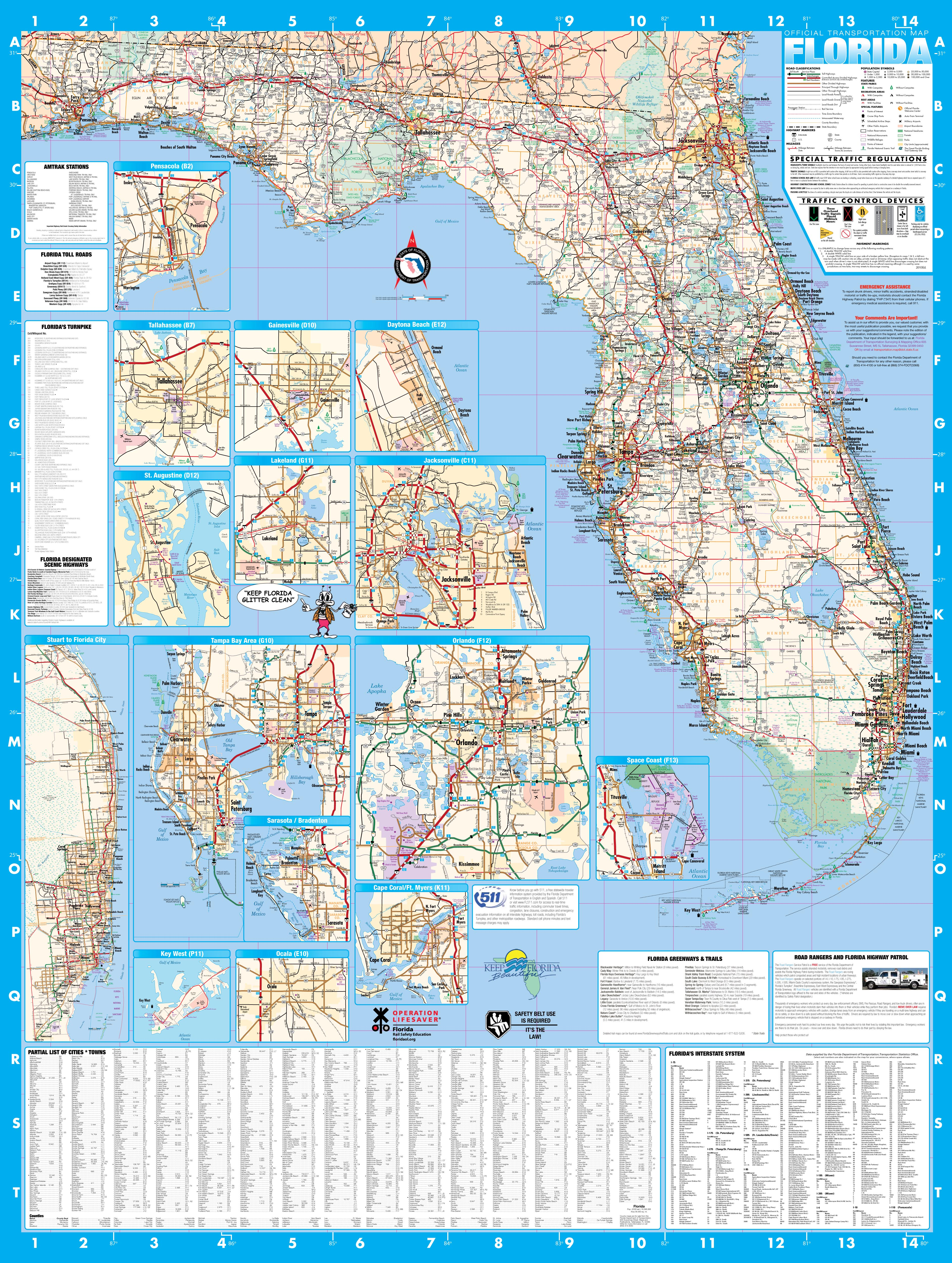 Large Map Of Florida.Florida Wall Map Executive Commercial Edition