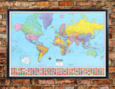 Hammond World Wall Map in SPANISH - Mapa, Mapas del Mundo