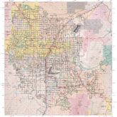 Greater Las Vegas Regional Metropolitan Area Wall Map