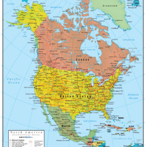 North America Wall Map GeoPolitical Deluxe Edition on map south america, map of alaska, map of the usa states, map of asia, map of the dominican republic, map of the wisconsin, map of the world, map of the united states, map of europe, map of the canadian shield, map of the oceania, map of china, map of canada, map of the russia, map of the earth, map of the antarctica, map of the india, map of the mexico, map of the andean region, map of the jamaica,