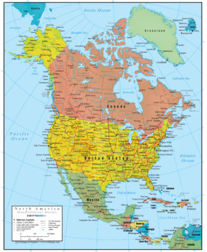 North America Wall Map GeoPolitical Deluxe Edition on racial map us, energy map us, geographic map us, linguistic map us, topographical map us, global map us, geography map us, language map us, geometry map us, ethnic map us, physical map us, africa map us, geologic map us, historical map us, electoral map us, national map us, religious map us, international map us, culture map us, economics map us,