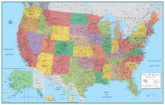 RMC Signature United States Wall Map Poster 32x50