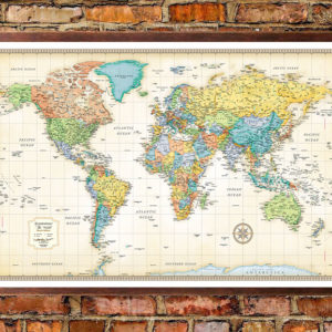 Rand mcnally classic edition world wall map poster rand mcnally classic edition world map poster gumiabroncs Image collections
