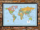 RMC Signature World Map Wall Poster