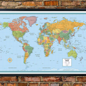 Rand mcnally deluxe signature world map wall poster gumiabroncs Images