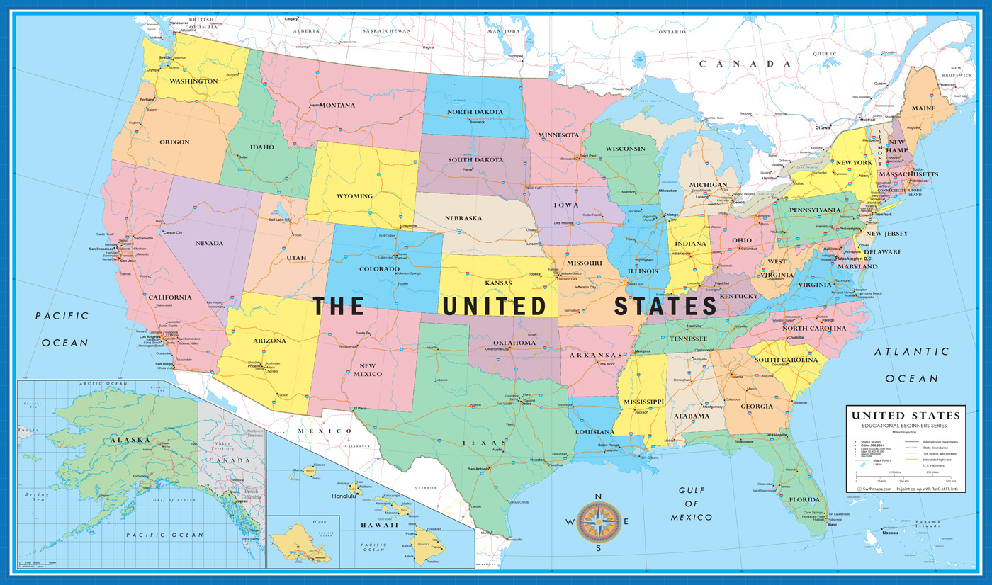 X World USA Educational Beginners Level K Desktop Map - Usa world map