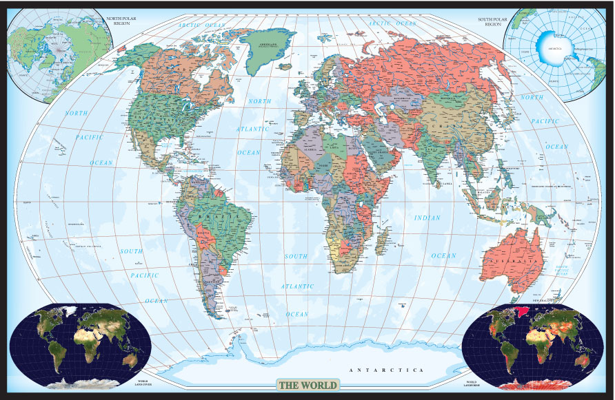 Swiftmap world executive for Executive world map wall mural