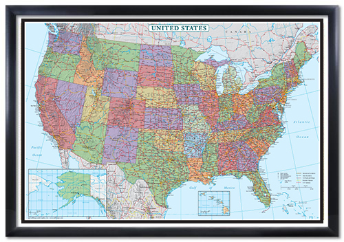 Swiftmaps United States Decorator Wall Map Poster