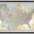 Beautiful black framed executive framed map of the United States