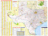 Texas Wall Map Executive Commercial Edition