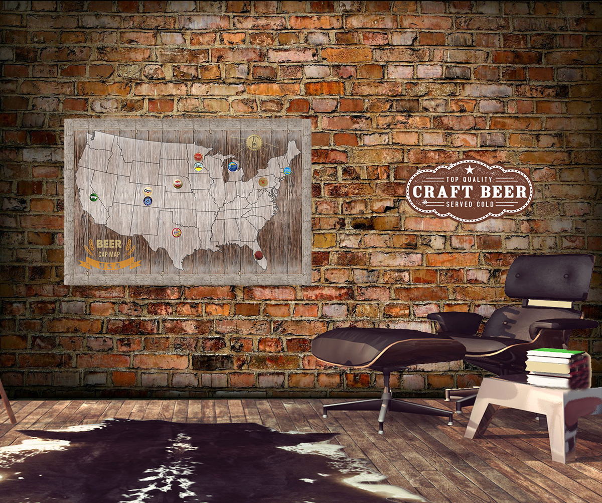 Map Usa Magnetic - Oregon beer cap map