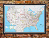 Swiftmaps United States Classic Executive Wall Map Mural Poster