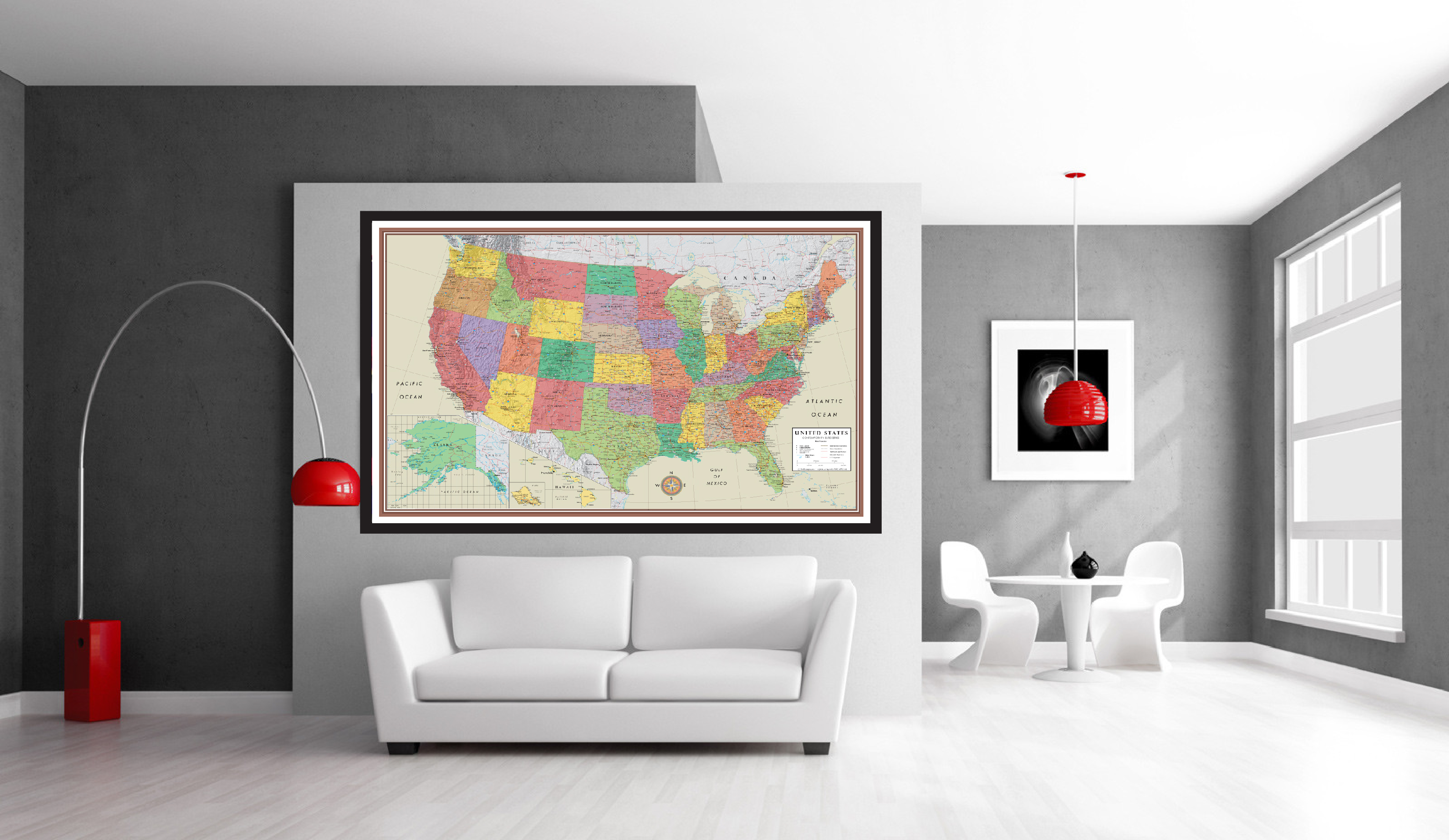 Usa Contemporary Elite On Wall