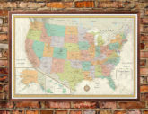 Contemporary Premier United States USA Large Wall Map