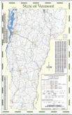 Vermont State Wall Map