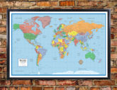 Classic Elite World Wall Map Poster