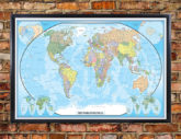 Swiftmaps World Classic Executive Wall Map Poster