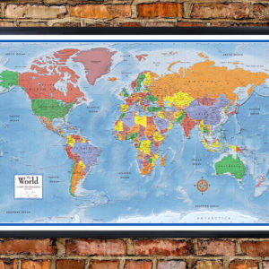 World classic premier wall map poster framed edition gumiabroncs Images