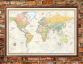 Contemporary Premier large world map poster