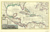Antique Replica of the Caribbean via Swiftmaps.com